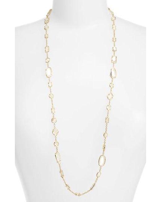 Kendra Scott   Metallic Joann Long Station Necklace   Lyst