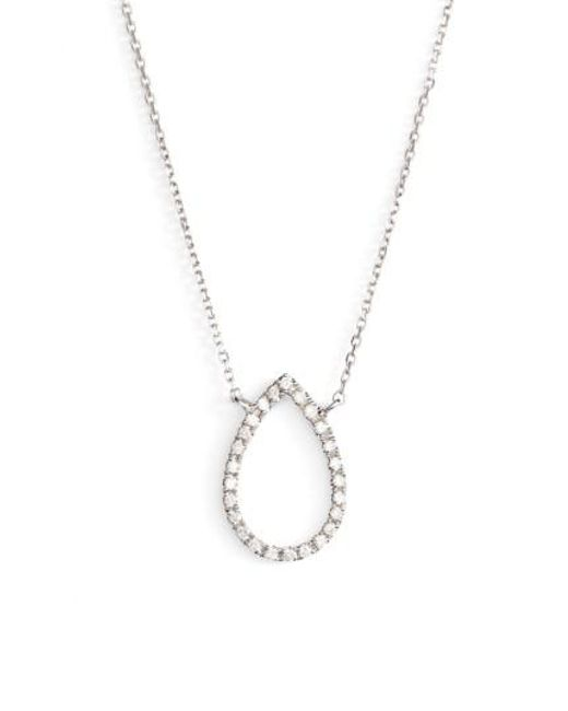 Dana Rebecca   Metallic Marquise Diamond Pendant Necklace   Lyst