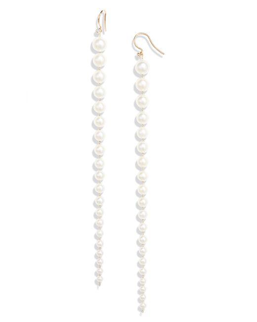Mizuki - Multicolor Akoya Pearl & Diamond Earrings - Lyst