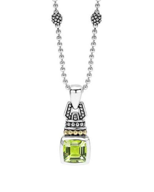 Lagos - Green 'caviar Color' Pendant Necklace - Lyst