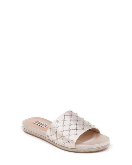 Badgley Mischka Shayna Jeweled Slide Sandal 7XAQOnldXp