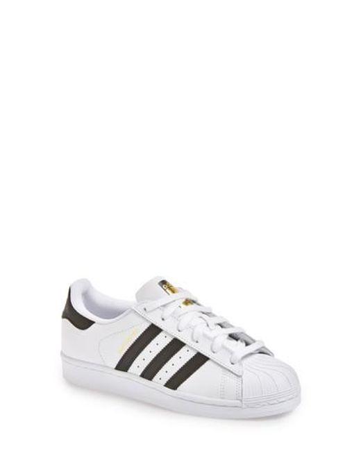 Adidas | White 'superstar' Sneaker | Lyst