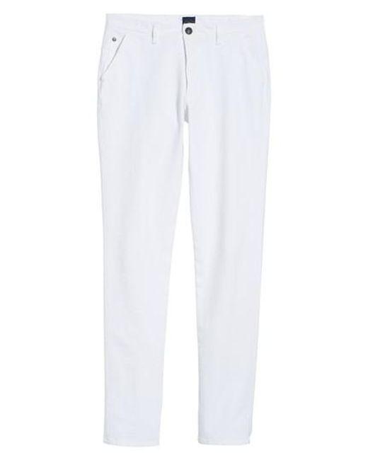 Good Man Brand - White Hybrid Slim Fit Stretch Pants for Men - Lyst