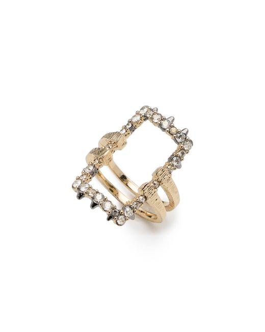 Alexis Bittar Metallic Elements Crystal Encrusted Ring