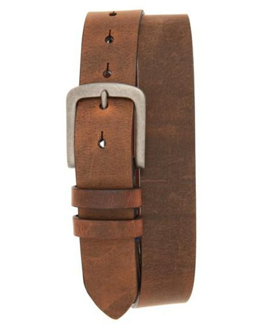 Torino Leather Company | Brown Distressed Waxed Harness Leather Belt for Men | Lyst