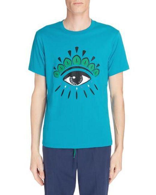 KENZO - Blue Eye T-shirt for Men - Lyst