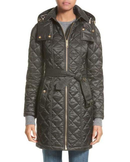 Lyst - Burberry Baughton Quilted Coat in Black : brown quilted coat - Adamdwight.com