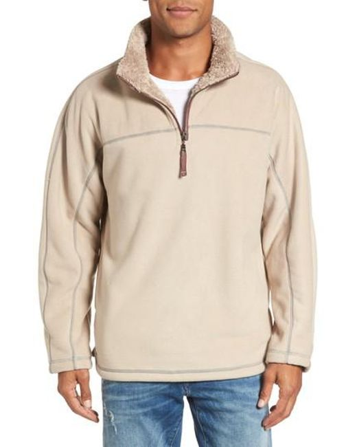 True grit Bonded Polar Fleece Lined Pullover in Natural for Men | Lyst