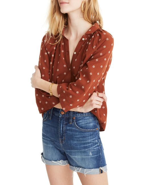 5d62f6343ca33d Madewell - Multicolor Raglan Peasant Shirt - Lyst