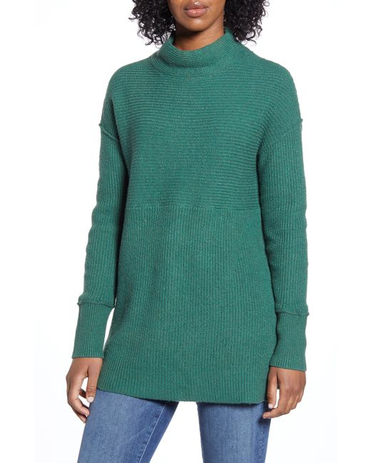 Caslon Green Caslon Ribbed Tunic Sweater
