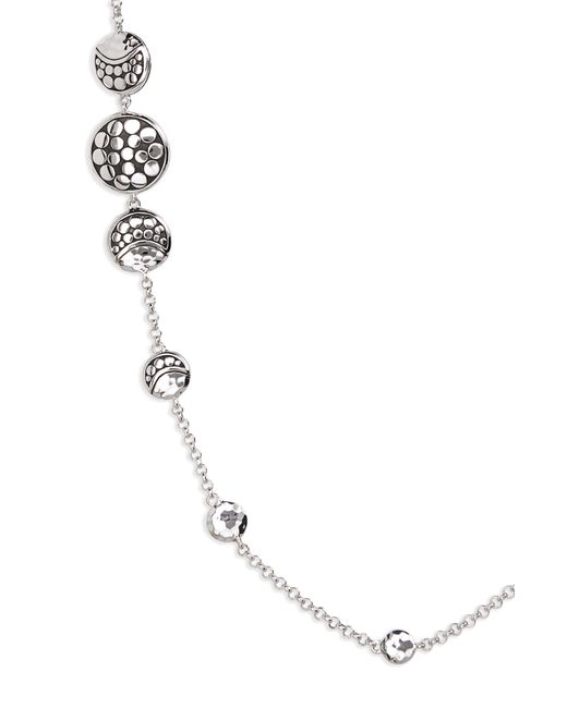 John Hardy Metallic Dot Hammered Silver Necklace