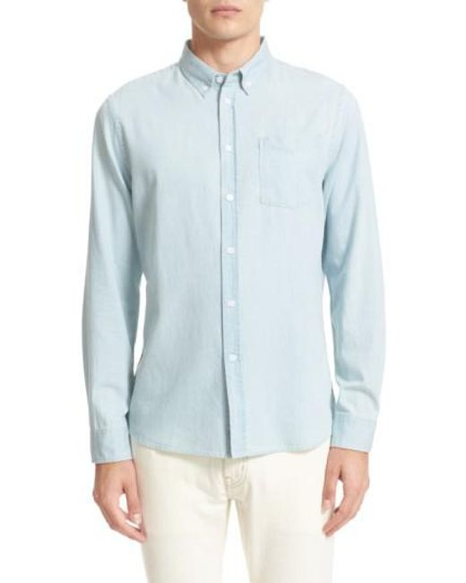 Saturdays NYC - Blue Crosby Denim Slim Fit Sport Shirt for Men - Lyst