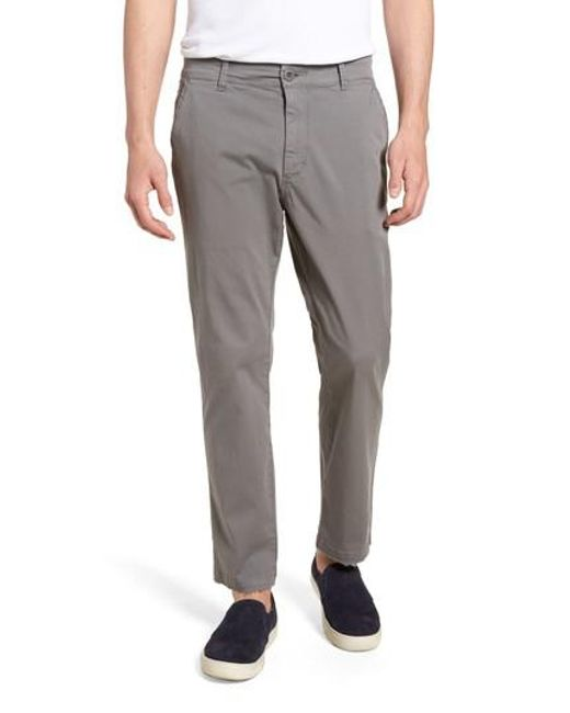 Hudson - Gray Hudson Clint Stretch Chino Pants for Men - Lyst