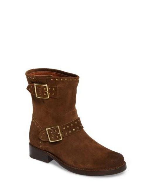 Frye | Brown Vicky Stud Engineer Boot | Lyst