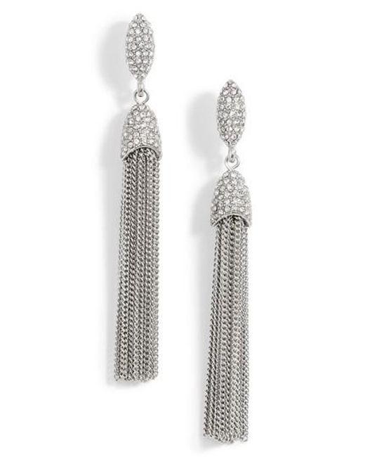 Vince Camuto | Metallic Chain Tassel Drop Earrings | Lyst