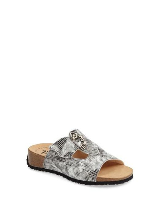 Think! | Brown ! 'mizzi With Face' Sandal | Lyst