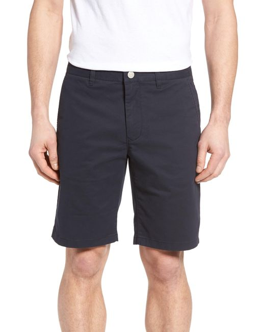 Bonobos Blue Stretch Washed Chino 9 Inch Shorts for men