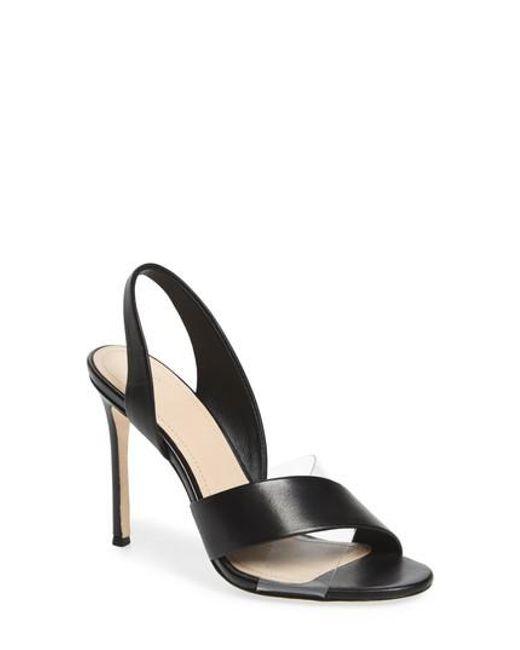 Pour La Victoire Women's Elly Metallic Leather Illusion High-Heel Slingback Sandals l6LGa