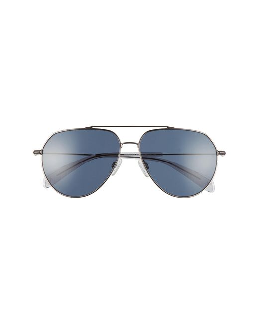 Rag & Bone 60mm Aviator Sunglasses - Ruthenium/ Blue Avio