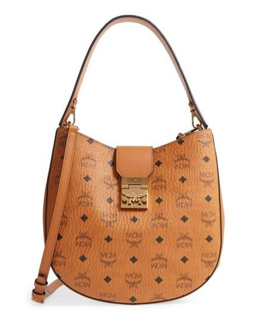 Patricia Large Hobo Bag in Cognac Visetos MCM LxPNlDU