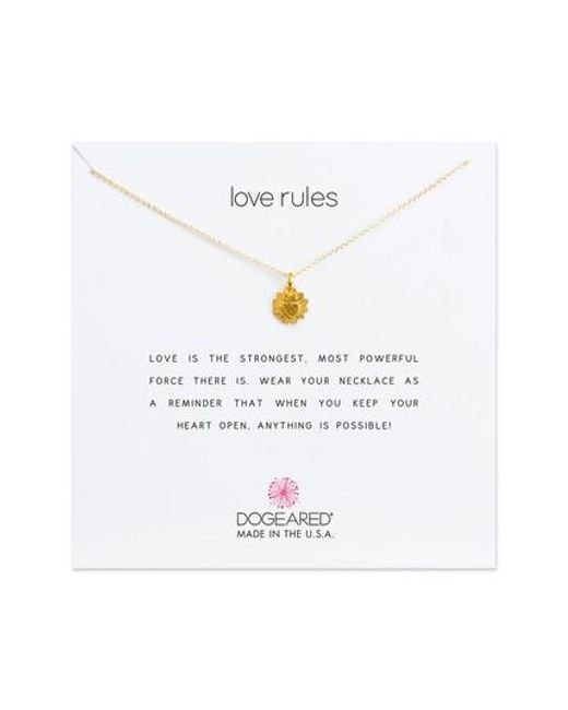Dogeared | Metallic Love Rules Pendant Necklace | Lyst