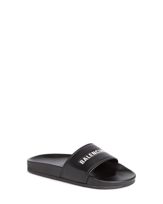 Balenciaga - Multicolor Logo Slide Sandal - Lyst