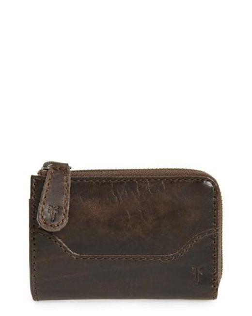 Frye   Brown Small Melissa Leather Zip Wallet   Lyst