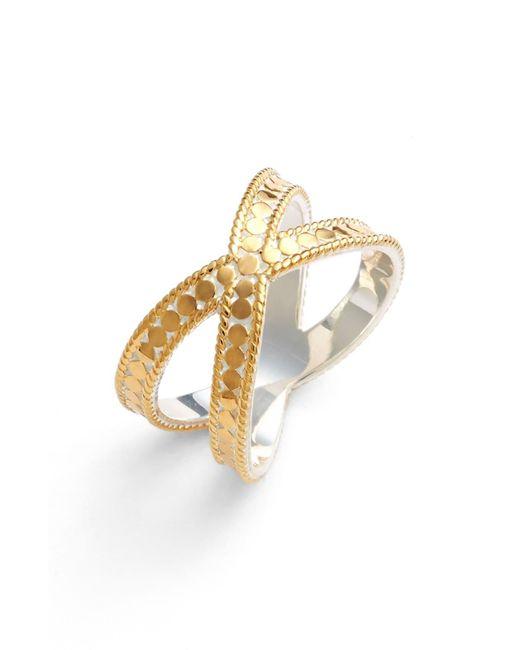Anna Beck Metallic Cross Ring