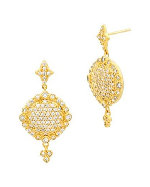 Freida Rothman | Metallic 'mercer' Pave Drop Earrings | Lyst