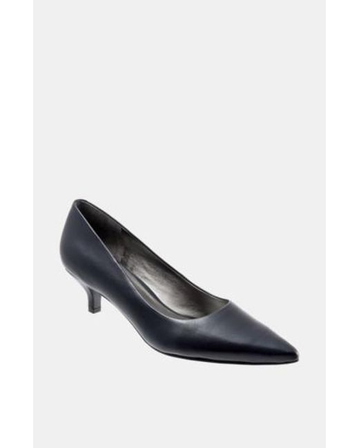 Trotters | Black 'paulina' Leather Pump | Lyst