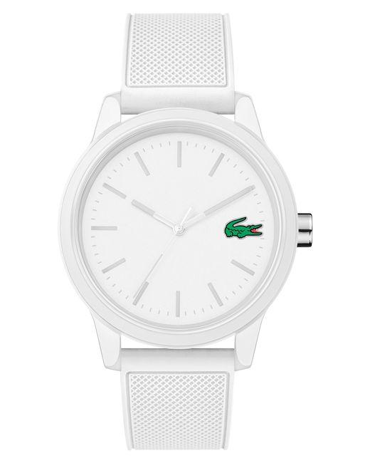 Lacoste - White 12.12 Rubber Strap Watch - Lyst