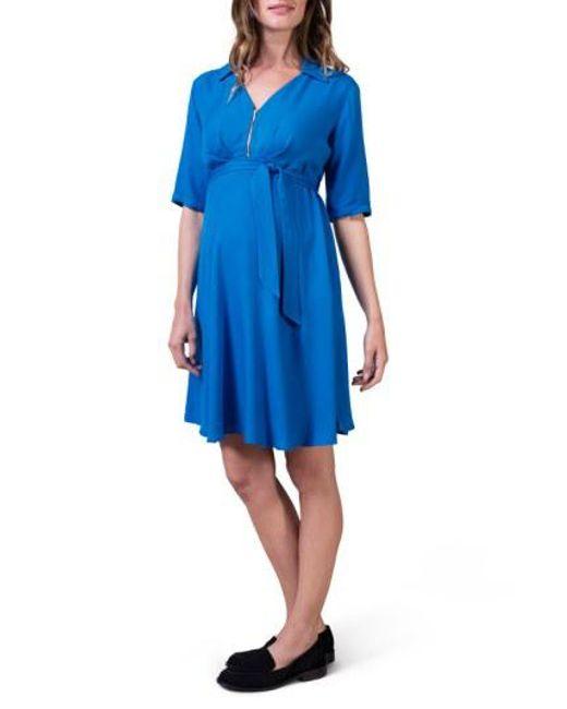 66365dd86ec6a Lyst - Isabella Oliver 'cranleigh' Maternity Dress in Blue