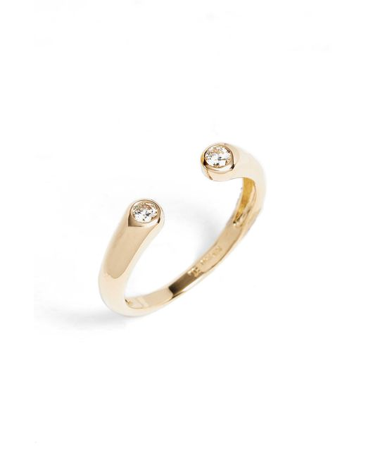Bony Levy - Metallic Open Cuff Diamond Ring - Lyst