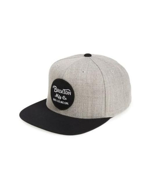 Brixton | Gray 'wheeler' Snapback Cap for Men | Lyst