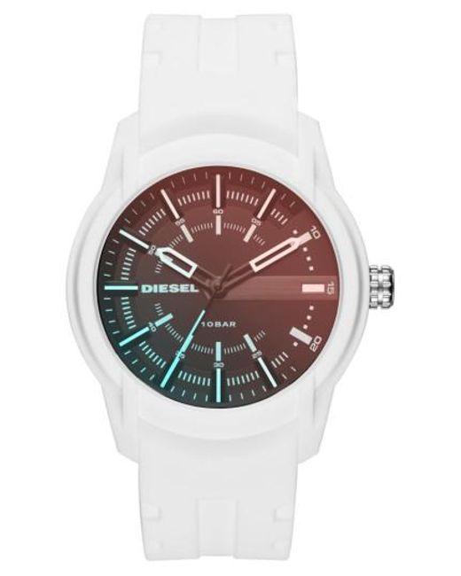 DIESEL   Multicolor Diesel Rasp Silicone Strap Watch for Men   Lyst