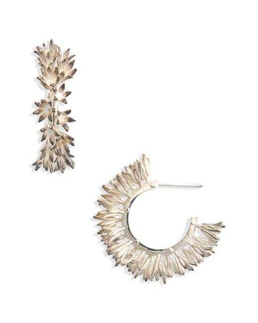 Meadowlark - Metallic Small Bluebell Hoop Earrings - Lyst