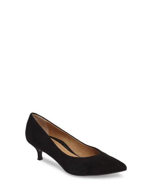 Vionic | Black Josie Kitten Heel Pump | Lyst