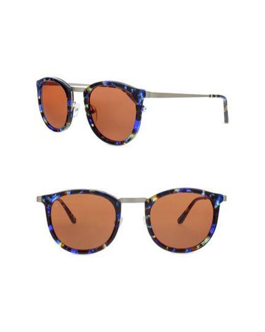 Smoke X Mirrors - Metallic Shout 49mm Retro Sunglasses - Lyst