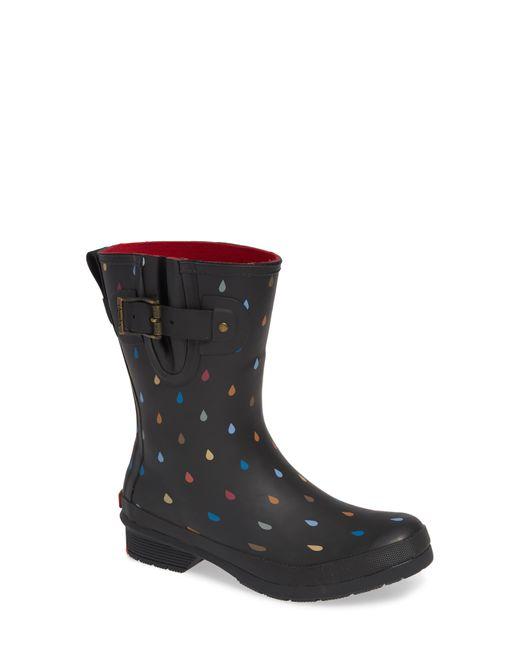 Chooka Black Rain Dot Rain Boot