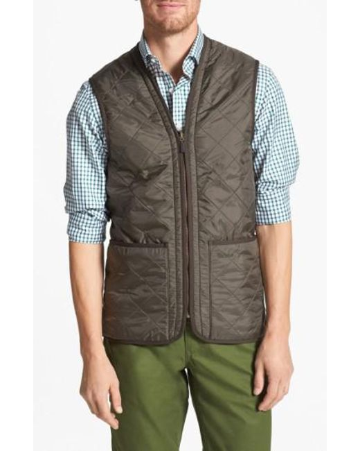 Barbour | Green 'polarquilt' Relaxed Fit Zip-in Liner Vest for Men | Lyst