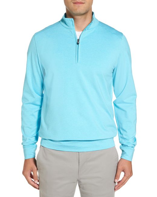 Cutter & Buck - Blue 'shoreline' Quarter Zip Pullover for Men - Lyst