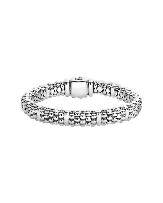 Lagos Metallic Oval Rope Caviar Bracelet