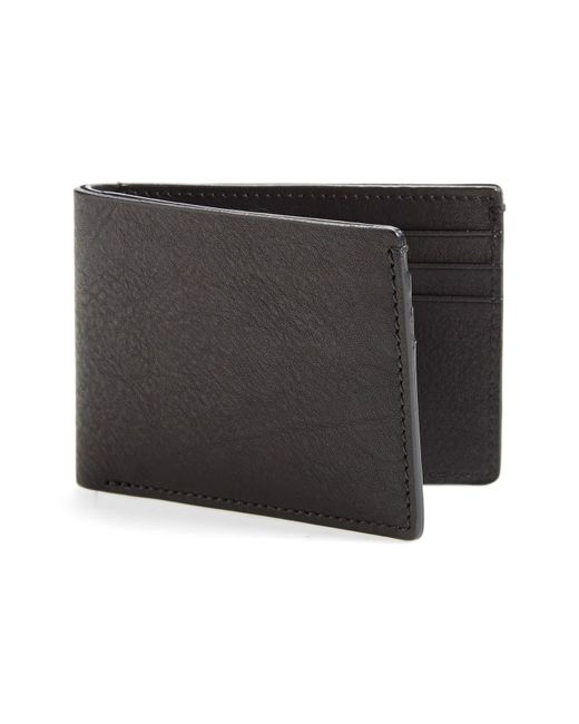 Bosca Black Leather Wallet for men
