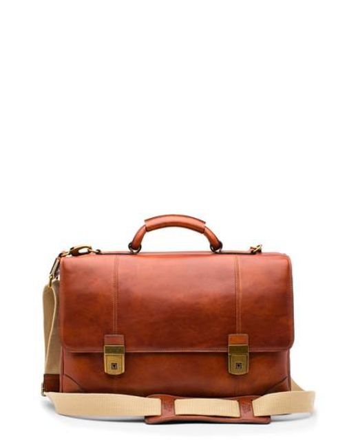 Bosca - Red Dolce Leather Briefcase - Lyst