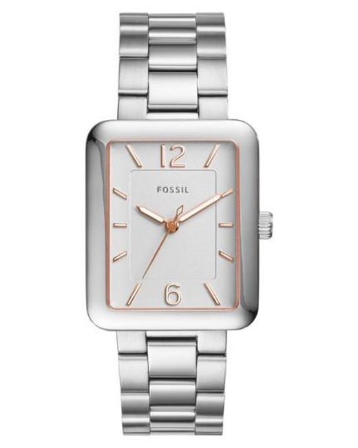 Fossil | Metallic Atwater Bracelet Watch | Lyst