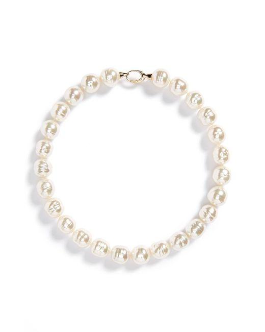 Majorica Metallic 14mm Baroque Pearl Necklace