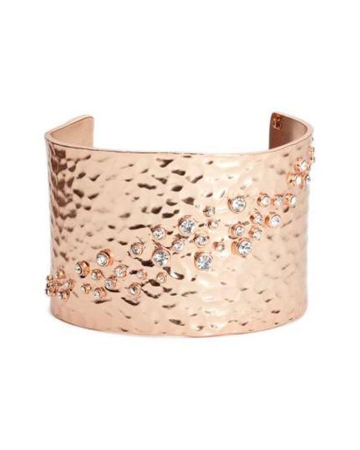 Karine Sultan | Pink Lou Embellished Cuff | Lyst