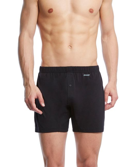2xist - Black Pima Cotton Knit Boxers for Men - Lyst