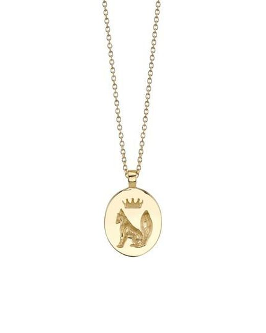 ICONERY | Metallic Stone Fox Pendant Necklace | Lyst