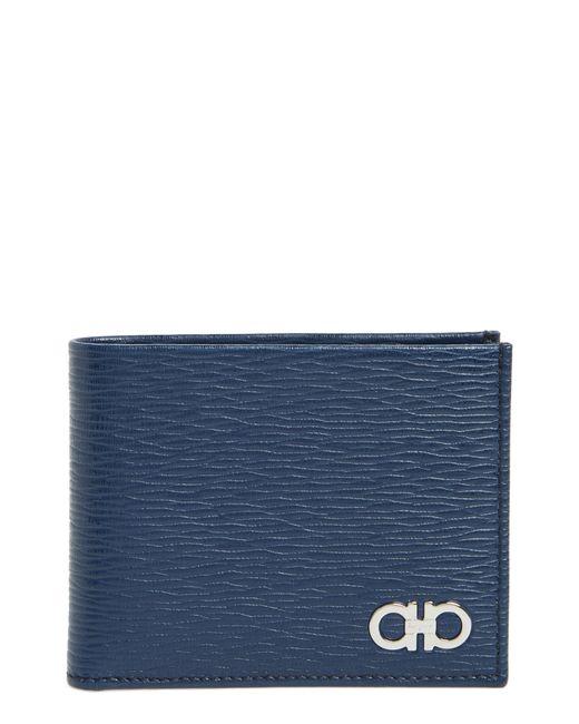 Ferragamo - Blue Revival Bifold Leather Wallet for Men - Lyst